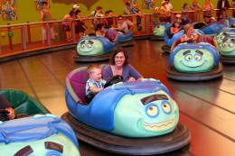 """These bumper cars require a minimum height of 36"""" to ride with an adult."""