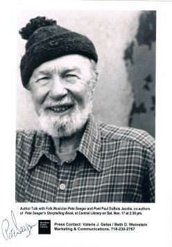 Pete Seeger is another iconic figure, known for his environmental and labor-related activism and singing.