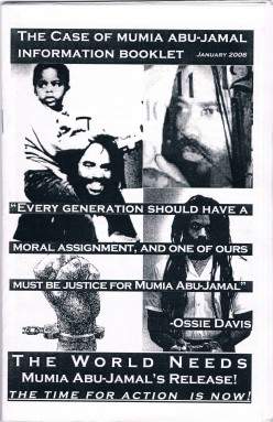When I met Africa, she handed me the above and following two handouts about longtime death row inmate Mumia Abu-Jamal.