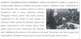 A blurb about her talk at the College of Physicians & Surgeons at Columbia University Medical Center.