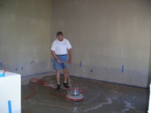 Concrete staining do it yourself hubpages for How to clean stains off concrete floor