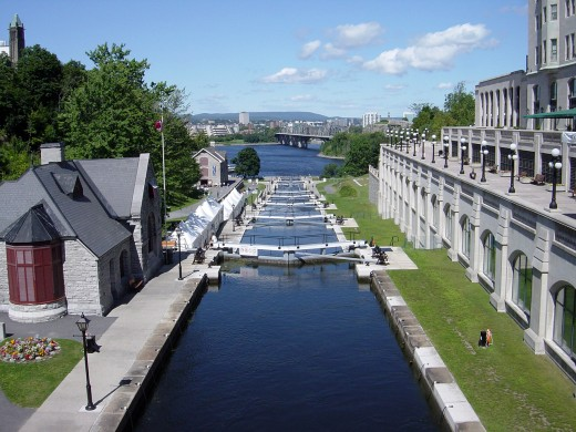 The Rideau Canal in Summer