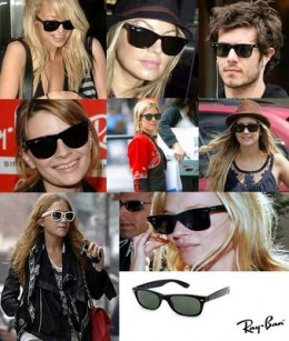 Celebrities Wearing a few iconic Ray-Ban models.