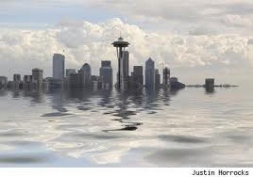 Seattle under water