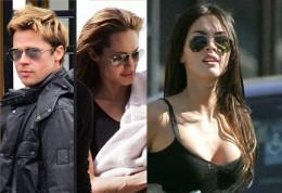 Brad Pitt, Angelina Jolie and Megan Fox all spotted wearing Ray-Ban Aviators