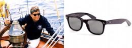 President John F. Kennedy sailing and wearing Ray-Ban Wayfarers