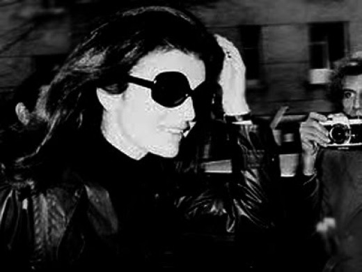 Jacqueline Kennedy wearing Ray-Ban Wayfarers