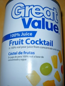 Can of Fruit Cocktail with 100% Juice