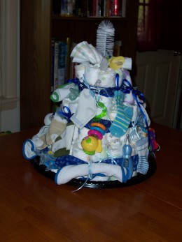 Completed Diaper Cake