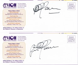 "Shown are the autographs of renowned singer Peter Yarrow of the folk group Peter, Paul & Mary, secured at a  fundraiser for his organization, Operation Respect, created ""to assure each child a respectful, safe and compassionate climate of learning."""