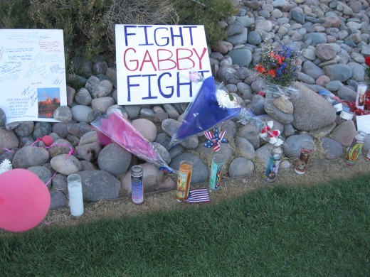 Message encouraging Rep Gabrielle Giffords to recover quickly