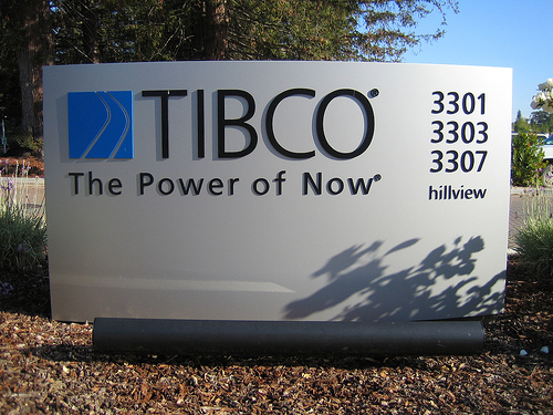 The sign of Tibco at Palo Alto, CA
