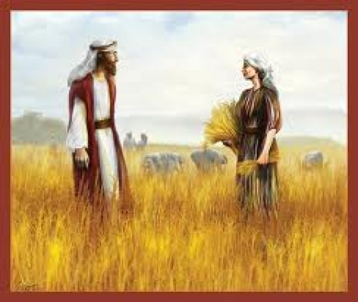 Ruth and Boaz met