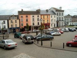 Town square of Clones, Co. Monaghan