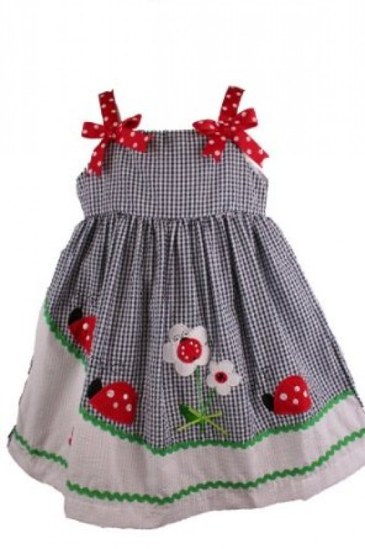 Gingham Lady Bug Dress