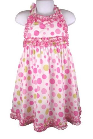 Bonnie Jean Girls Pink Polka Dot Dress