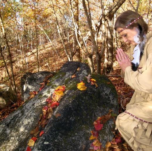 Praying Native American Indian princess costume