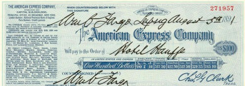 The World's First Travelers' Cheque