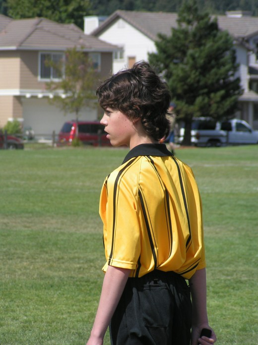"""When another parent at the game asks, """"Which one is yours?"""" I get to say,""""The referee."""""""