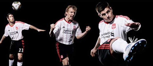 New Liverpool Away Kit - Black & White, With Red Stripes