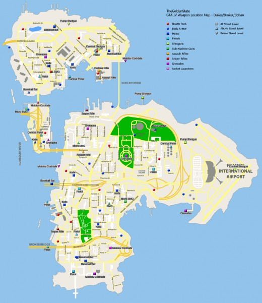 Gta 4 Weapons Map submited images. Gta Iv Weapon Map