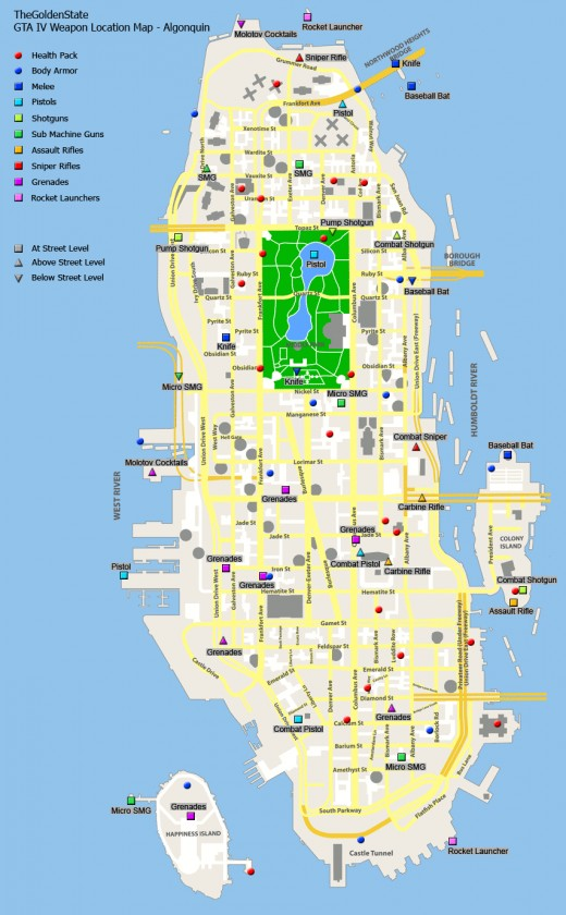 GTA 4 Pigeon and Jump Locations Maps - Dukes, Broker and Bohan