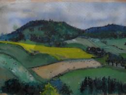Strathearn landscape. Watercolour sketch on toned paper. (See map below)