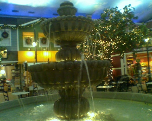 Water fountain in the middle of the square