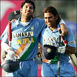 Yuvaraj and Dhoni