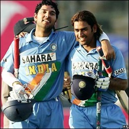 Yuvaraj and Dhoni