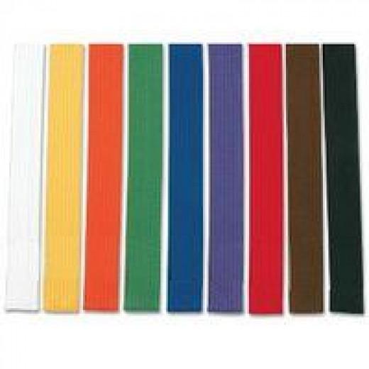 Karate belts in order of color