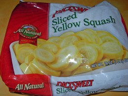 Step 15 - Need freshly frozen sliced yellow squash