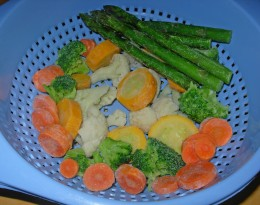 Step 17 - Allow these frozen vegetables time to thaw completely