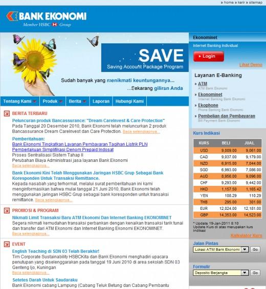 Bank Ekonomi Main Page