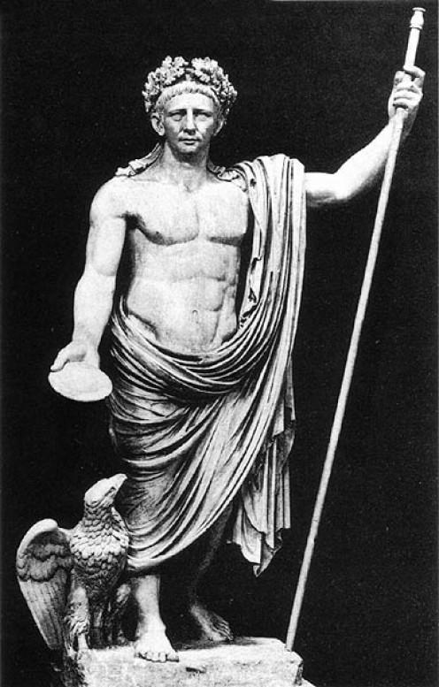 Ancient Roman God, Jupiter, worshiped at the Latin Festivals.