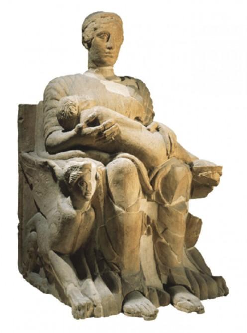 Ancient Etruscan Statue of Mater Matuta