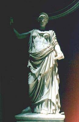 Ancient Roman Goddess Juno, honored during Matronalia festivals
