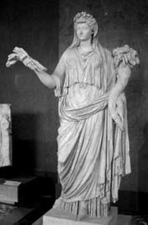 Roman Goddess Ops, honored during Opalia festivals