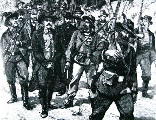 Arrest of Jameson after the raid - Petit Parisien 1896. Image from Wikipedia