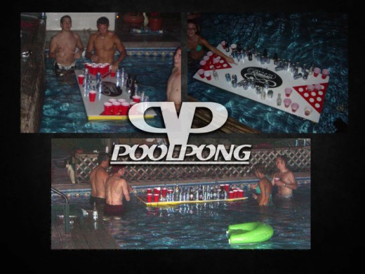 Floatable Beer Pong Tables