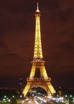 The Eiffel Tower at Night.