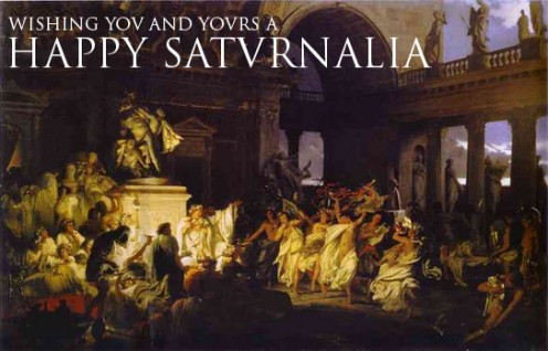 Saturnalia festival celebration in ancient Rome