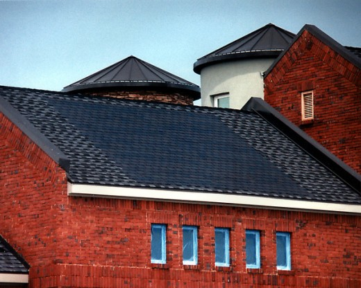 "An example of new ""Solar Shingles""."