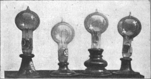 Edison's Incandescent light bulbs.  My, how things change.