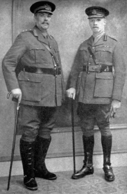 Botha (left) and Smuts in 1917. Image Smust House Museum