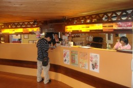 Inside the coffee shop.