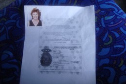 Copy of passport which is needed along with passport, photos and other documents completed while in the courtyard.