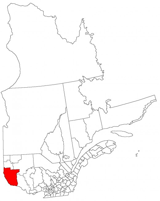 Map location of Temiscamingue Regional Municipality where Notre-Dame-du-Nord is situated