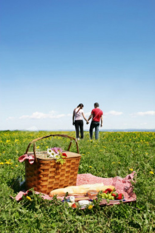 What can be a better Valentines idea than a homemade gourmet picnic in the country?
