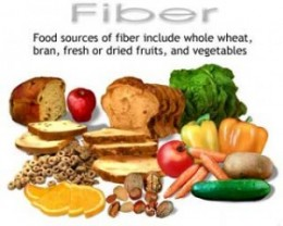 Foods rich in dietary fibers